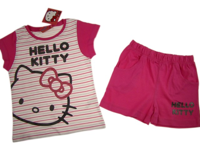 Pijamale pentru fete Hello Kitty (Masura 116 (5-6 ani))