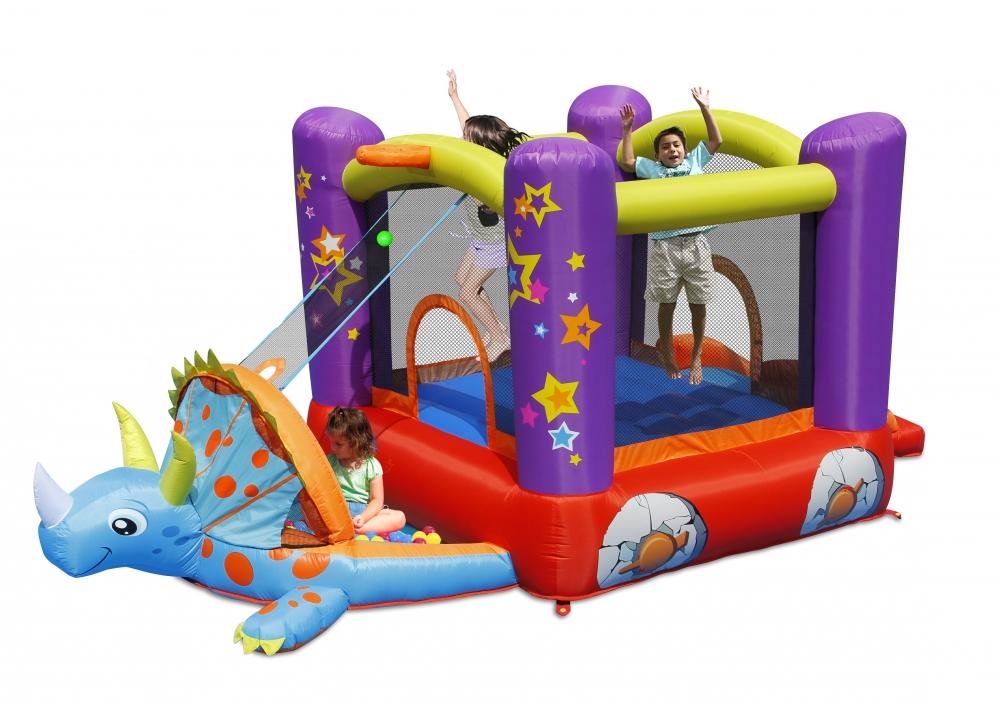 Saltea gonflabila Happy Hop Dino Play House imagine