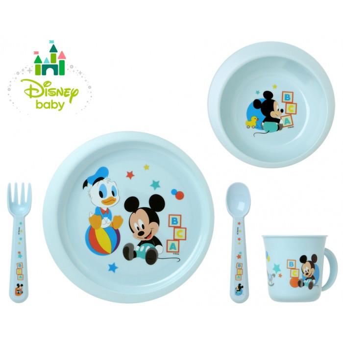 Set 5 accesorii de hranire Mickey bleu