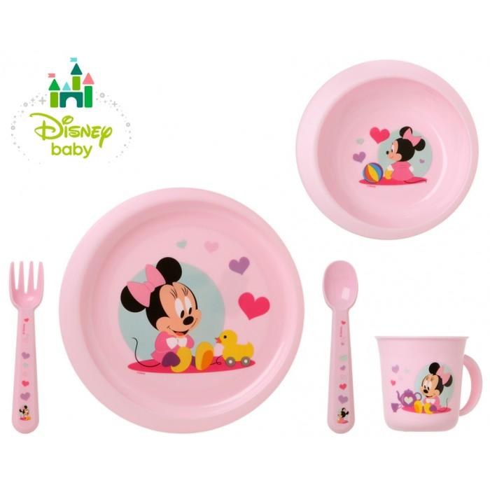 Set 5 accesorii de hranire Minnie roz