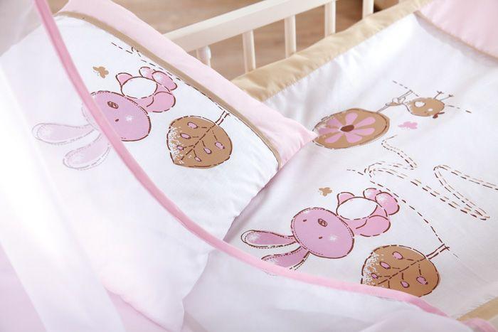Set lenjerie 4 piese Little Bunny bej-pink Klups
