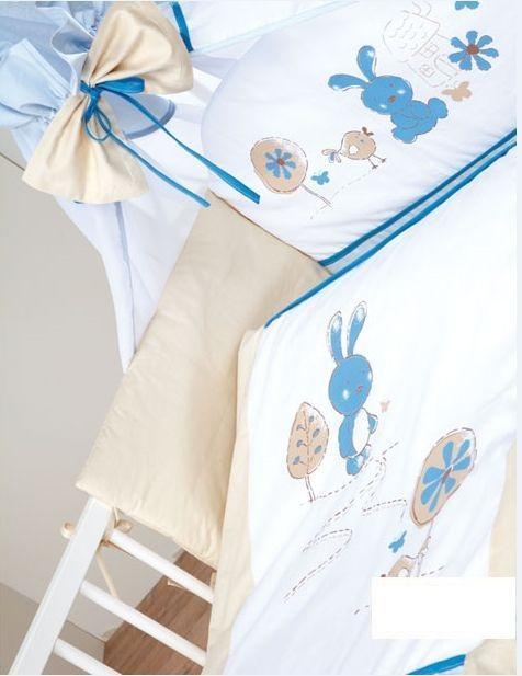 Set lenjerie 5 piese Little Bunny bej-gri Klups