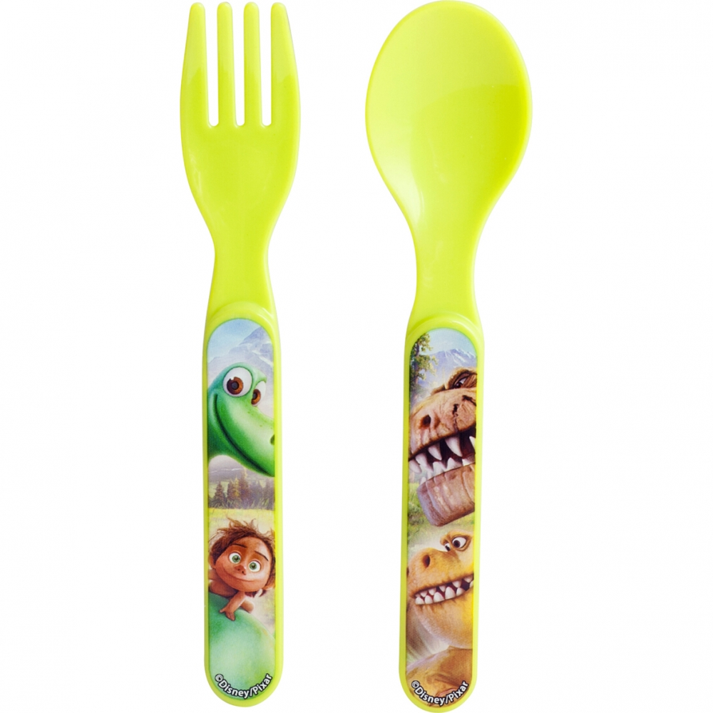 Set Lingurita Si Furculita Plastic Bunul Dinozaur Lulabi 8006000