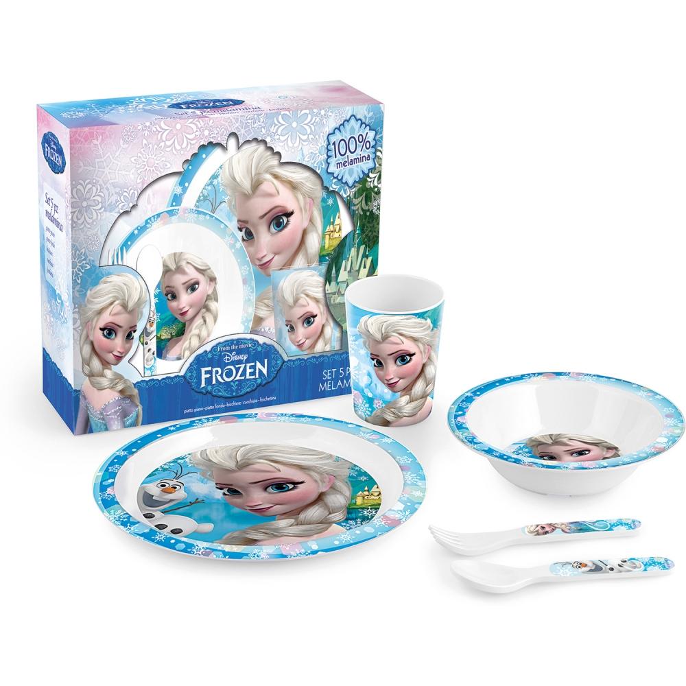 Set pentru masa melamina 5 piese Frozen Lulabi 9203100 din categoria Alimentatie de la Lulabi
