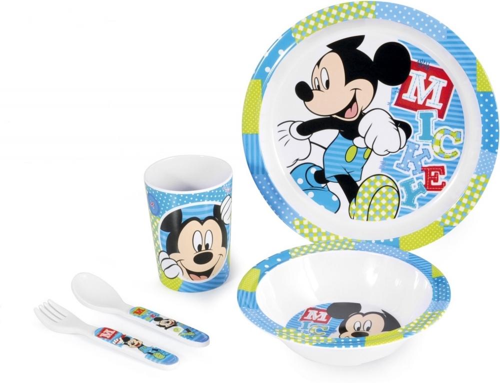 Set pentru masa melamina 5 piese Mickey Lulabi 8820700