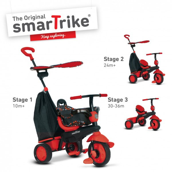 Tricicleta Smart Trike Delight 3 in 1 Red