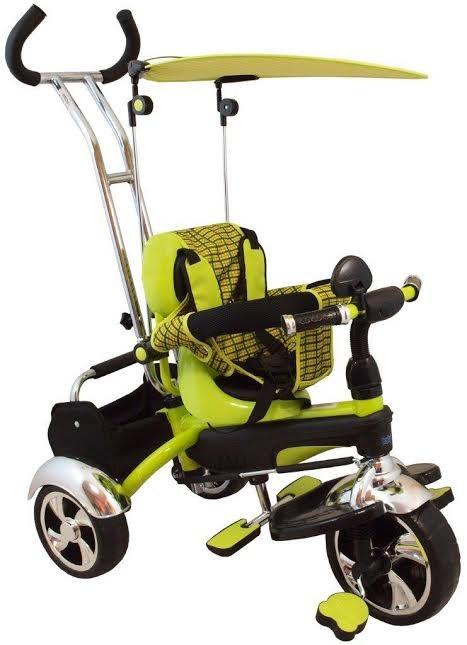 Tricicleta pentru copii multifunctionala KR01 Verde