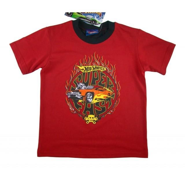 Tricou copii Hot Wheels, rosu (Masura 116 (5-6 ani))