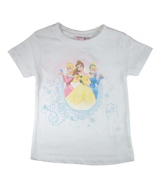 Tricou fete cu printesele Disney (Masura 104 (3-4 ani))