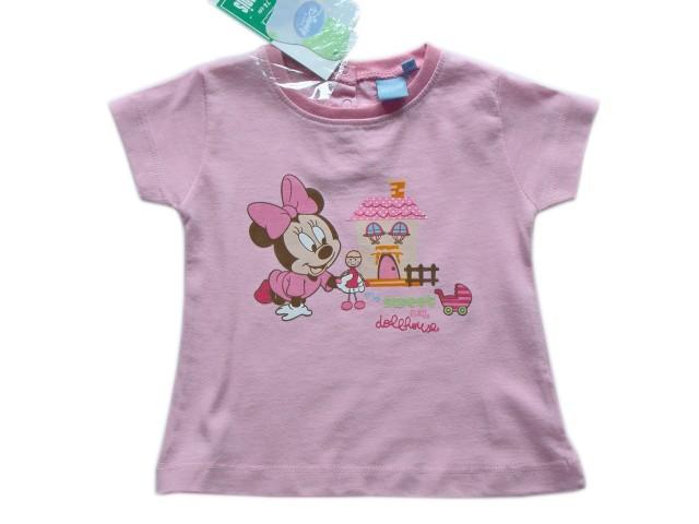 Tricou fetite Baby Minnie (Masura 68 (3-6 luni))