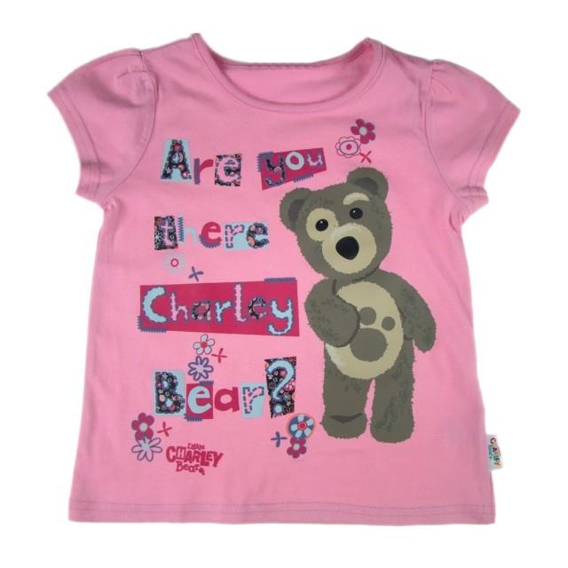 Tricou fetite Ursuletul Charley (Masura 98 (2-3 ani))