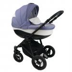Carucior copii 3 in 1 Bexa Ideal Purple Cadru negru