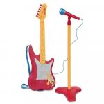 Chitara electrica cu suport pentru microfon