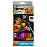 Creioane colorate Star Wars Rebels, 18 cm
