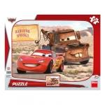 Puzzle - Peripetii cu Lightning McQueen (12 piese)