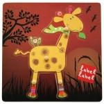 Puzzle din lemn Label Label Girafa