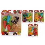 Set alimente diverse fructe si legume cu velcro 8 piese