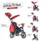 Tricicleta Smart Trike Dazzle 5 in 1 Red