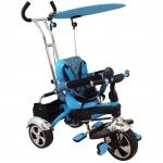 Tricicleta pentru copii multifunctionala KR01 Albastra