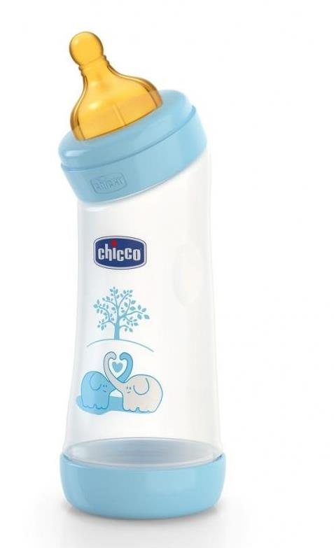 Biberon Chicco WellBeing PP in unghi boy 250ml t.c. flux normal 0+luni 0BPA