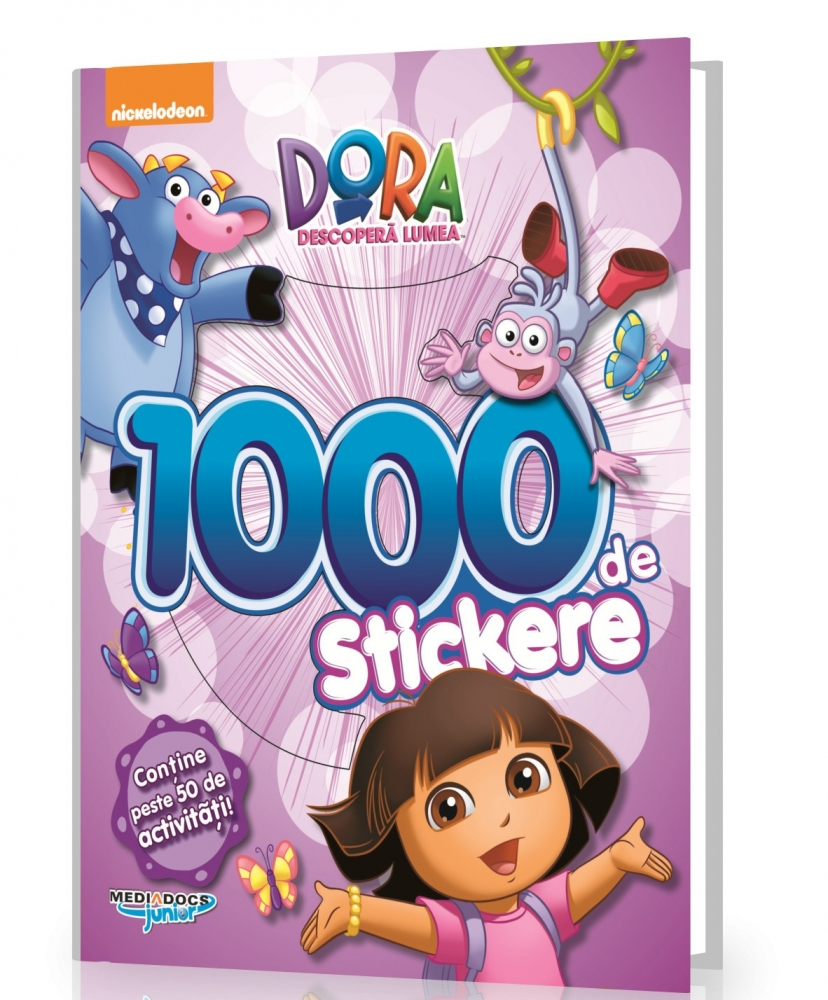 Carte cu 1000 Stickere Dora