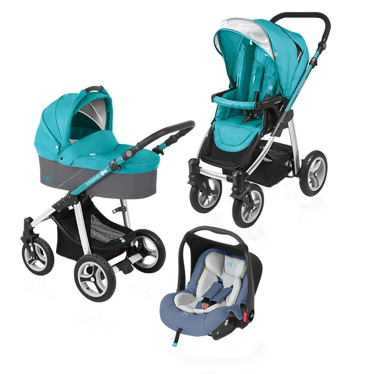 Carucior multifunctional 3 in 1 Baby Design Lupo Turquoise