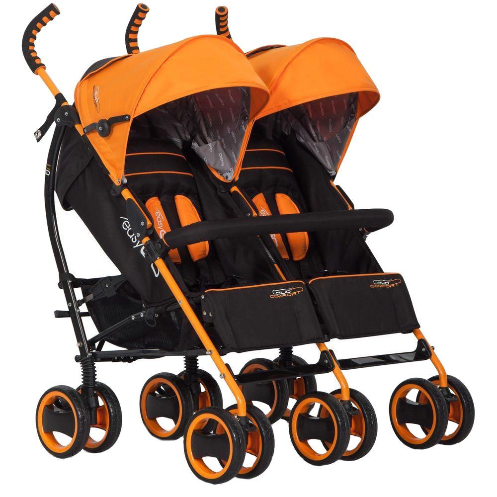Carucior pentru gemeni Duo Comfort Easy Go Electric Orange