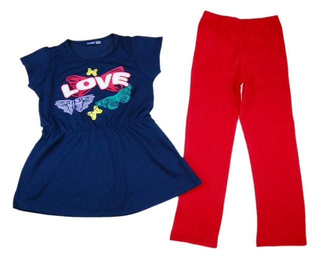 Compleu fete tricou si pantaloni (Masura 104 (3-4 ani))