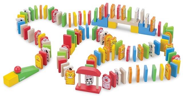 Domino cu animalute 110 piese