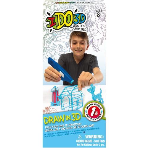 IDO3D - Set Creion 3D pentru Incepatori Albastru