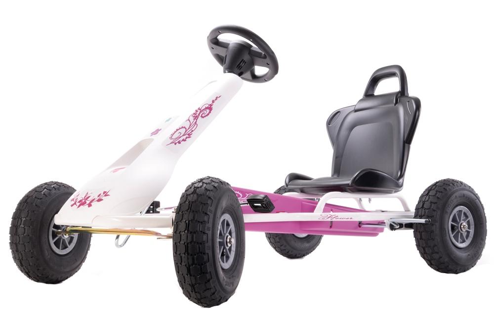 Kart cu pedale Ferbedo Air-Racer Flower