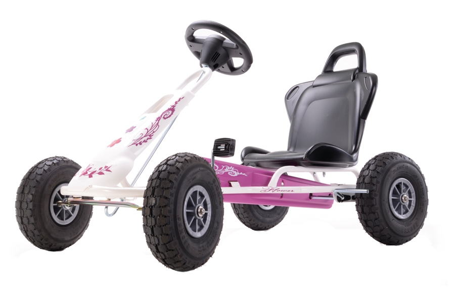 Kart cu pedale Ferbedo Air Runner Flower