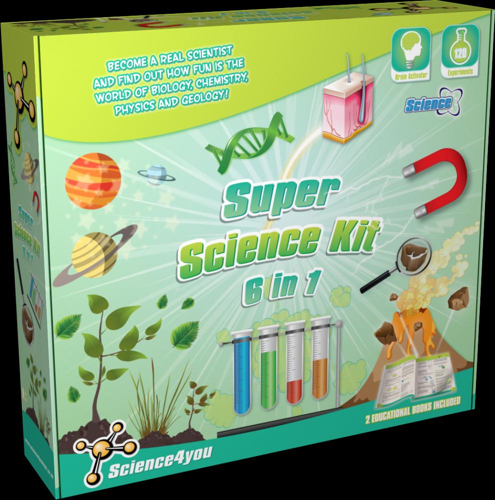 Kit 6 in 1 - Super experimente