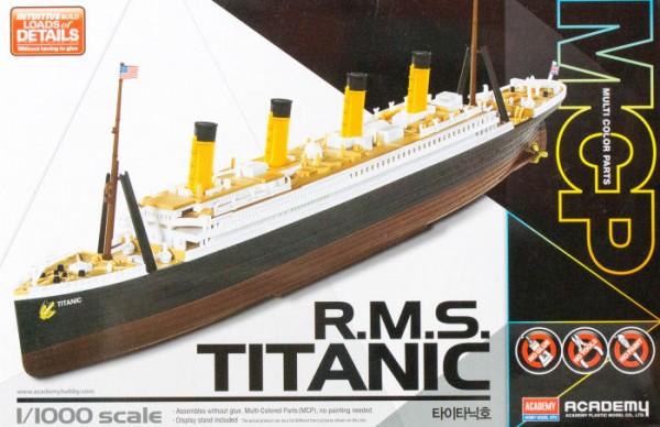 Kit constructie RMS Titanic scara 11000 colorat