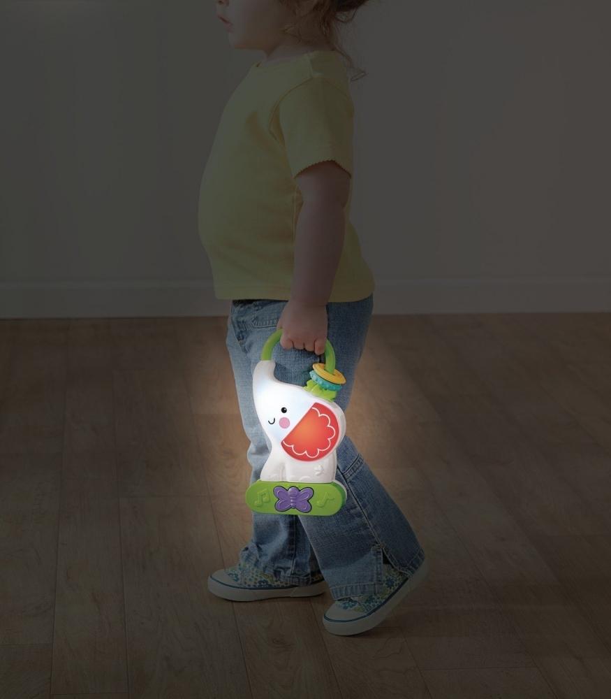 Lampa de veghe cu jucarie muzicala elefant Fisher-Price