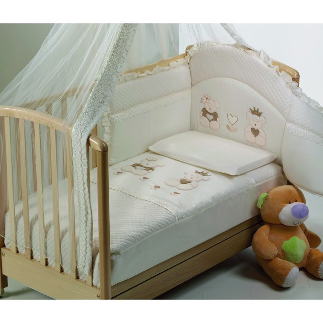 Lenjerie 3 piese Real Bears ivory Baby Italia