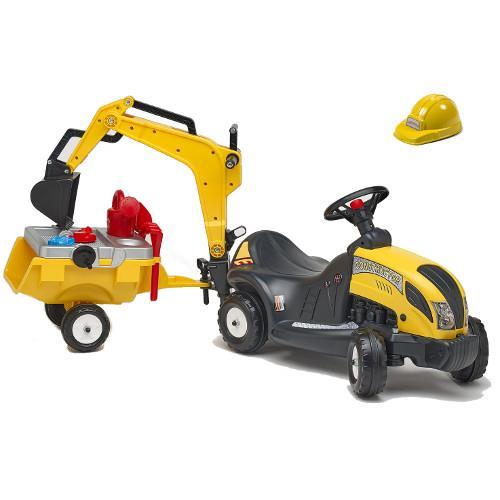 Masinuta Constructor cu Remorca, Excavator si Accesorii