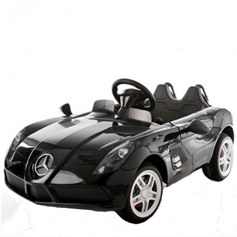Masinuta electrica Mercedes McLaren Limited Edition Black roti din cauciuc si telecomanda