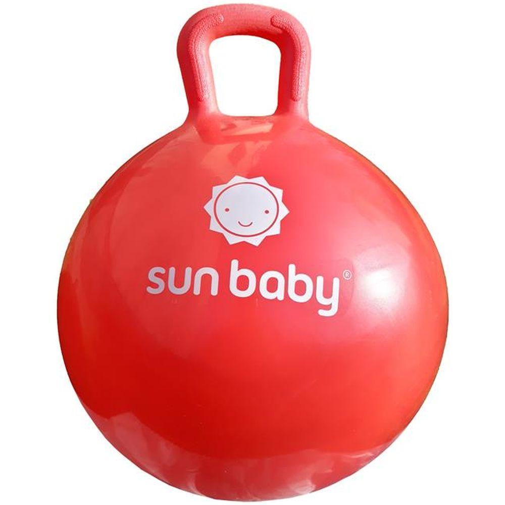 Minge gonflabila pentru sarituri cu maner Sun Baby Rosu