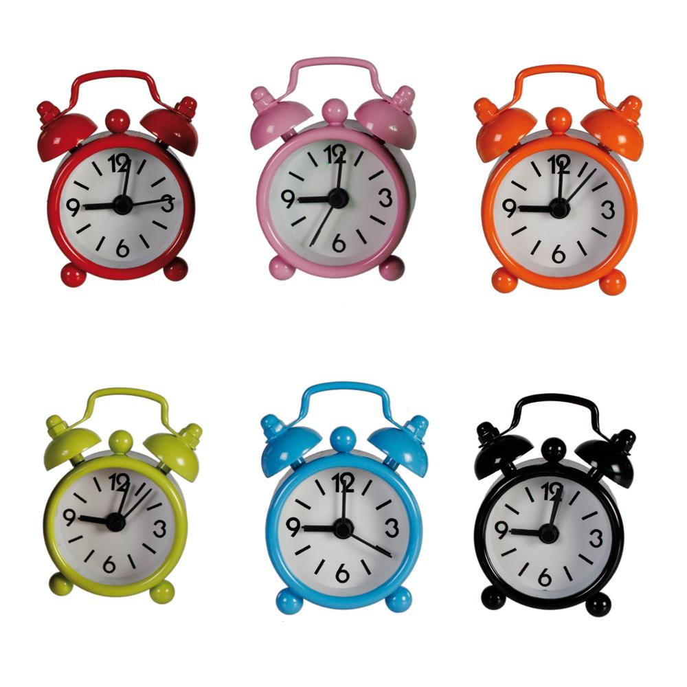 Mini ceas metalic de birou cu alarma - 6x4cm, Radar 793071