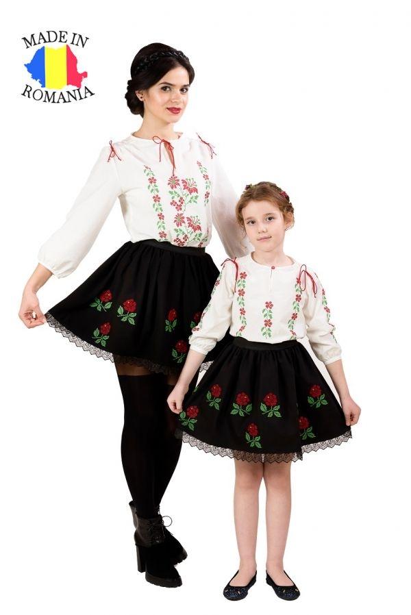 Pachet fuste Trandafir Moldovenesc mama-fiica Elfbebe