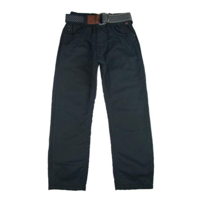 Pantaloni captusiti cu polar Cold Winter gri petrol (Masura 140 (9-10 ani))