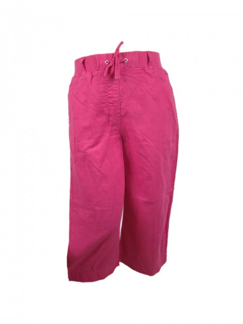 Pantaloni trei sferturi fetite Summer material in si bumbac (Masura 128 (7-8 ani))