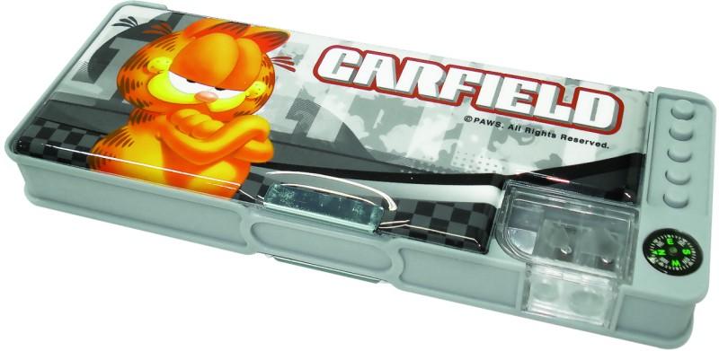 Penar plastic cu ascutitoare si busola incorporate Garfield