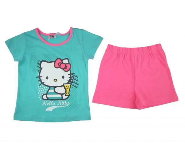 Pijama fetite Hello Kitty (Masura 128 (7-8 ani))