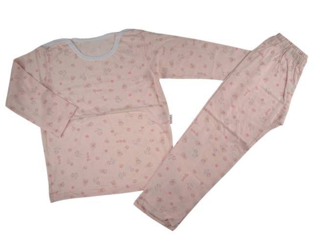 Pijama roz fetite Happy Toys (Masura 116 (5-6 ani))