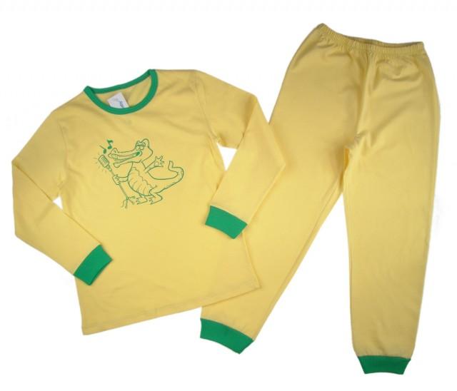 Pijamale copii Croco Artist bumbac (Masura 116 (5-6 ani))