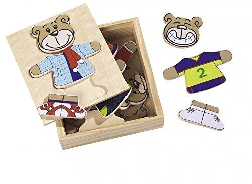 Puzzle Ursulet din lemn cu 20 piese