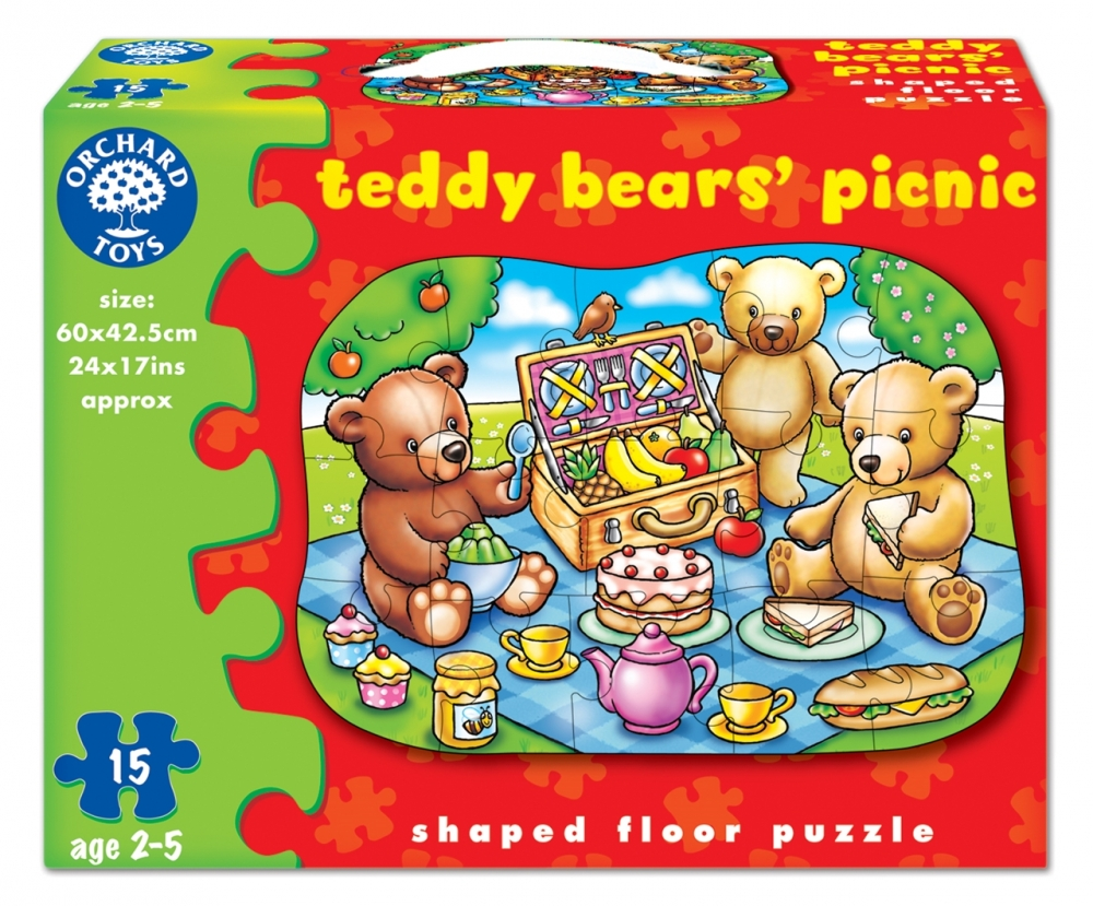 Puzzle de podea picnicul ursuletilor (15 piese)
