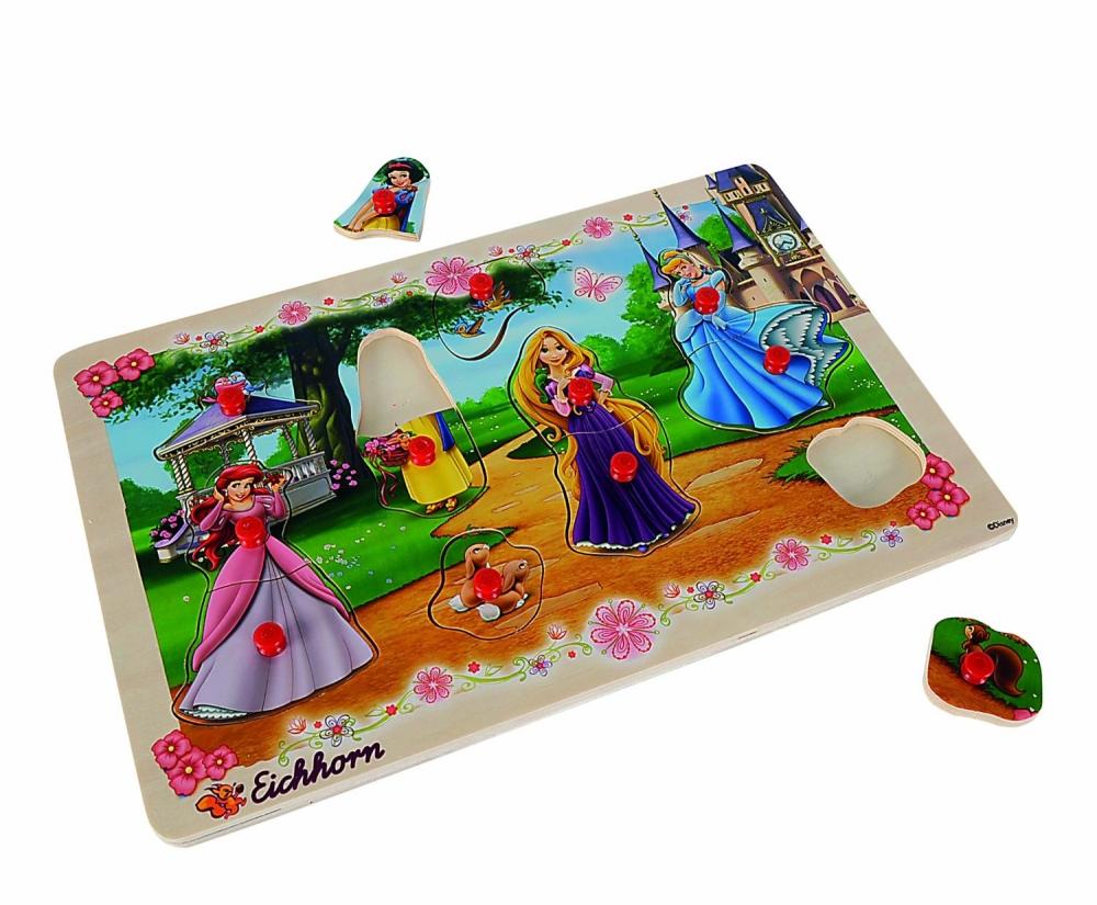 Puzzle din lemn incastru Disney Princess